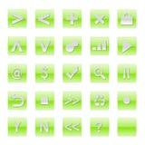 Einfache Web-Software-Internet-Tasten stock abbildung