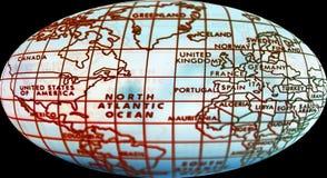 Einfache Weltkarte Stockfoto