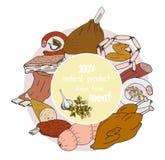 Einfache Zeichnung von Fleischwaren Lizenzfreie Stockfotografie