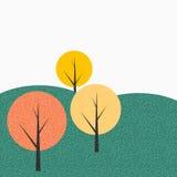 Einfacher Autumn Tree Background Vector Illustration Lizenzfreie Stockfotografie