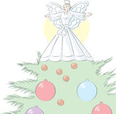 Einfacher Baum-Engel Stockbild