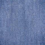 Einfacher blauer Jean Fabric Texture Stockfotos