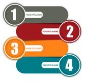 Einfacher bunter Hintergrund mit vier Schritten Stockbild