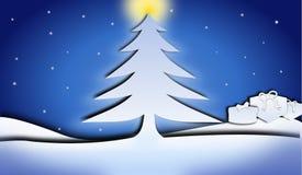 Einfacher Christmass-Hintergrund Vektor Abbildung