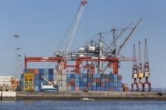 Einfacher Containerhafen stockfotos