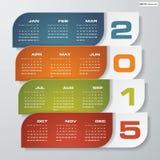 Einfacher editable Vektorkalender 2015 Stockbild