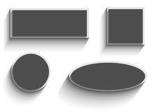 Einfacher Fahnenvektor Lizenzfreies Stockbild