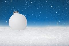 Einfacher Flitter der weißen Weihnacht lizenzfreies stockfoto