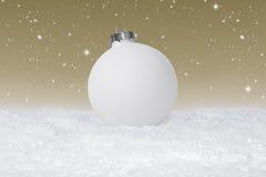 Einfacher Flitter der weißen Weihnacht lizenzfreie stockbilder