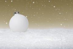 Einfacher Flitter der weißen Weihnacht stockbild