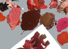 Einfacher FotoHintergrund der Bürste und der Farbe stockfoto