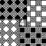 Einfacher geometrischer Vektor-nahtloser Muster-Satz Lizenzfreies Stockfoto