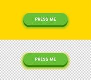 Einfacher grüner Knopf Lizenzfreie Stockfotos