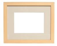 Einfacher hölzerner Bilderrahmen (mit Ausschnittspfad) Lizenzfreie Stockbilder