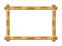 Einfacher Holzrahmen Stockfotos