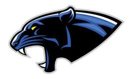 Einfacher Kopf des schwarzen Panthers Lizenzfreie Stockbilder