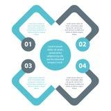 Einfacher minimaler einfacher infographics Vektor EPS10 Stockfoto