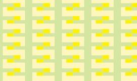 Einfacher moderner abstrakter grüner und gelber Streifen deckt Muster mit Ziegeln Lizenzfreie Stockfotos