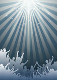 Einfacher Musik-Hintergrund - Vektor Stockfotos