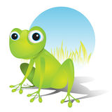 Einfacher netter Frosch Lizenzfreie Stockbilder