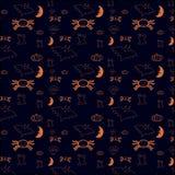 Einfacher orange Halloween-Hintergrund Lizenzfreie Stockfotografie