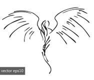 Einfacher pinstriping Engel vektor abbildung