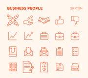 Einfacher Satz Geschäftsvölker stockfotografie