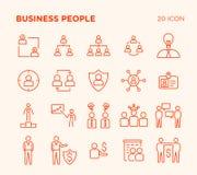Einfacher Satz Geschäftsvölker lizenzfreie stockfotografie