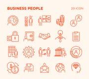 Einfacher Satz Geschäftsvölker lizenzfreie stockbilder