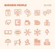 Einfacher Satz Geschäftsvölker stockbilder