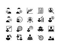 Einfacher Satz Hauptjagd-der in Verbindung stehenden Vektor-Linie Ikonen Enthält solche Ikonen wie Job Interview, beruflicher Weg Stockfoto
