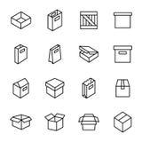 Einfacher Satz Kasten und Kisten Lizenzfreies Stockfoto