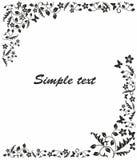 Einfacher Schwarzweiss-Rahmen stock abbildung