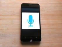 Einfacher Sprachaufzeichnungsanlage App stockbild