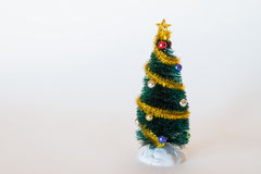 Einfacher Toy Christmas Tree Lizenzfreies Stockfoto