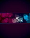 Einfacher transparenter Polygonhintergrund Stockfoto