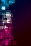 Einfacher transparenter quadratischer Hintergrund Stockfotos