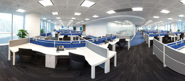 Einfacher und stilvoller Arbeitsplatz Bussiess-Büros Stockbilder
