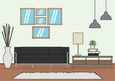 Einfacher Wohnzimmervektor stock abbildung