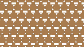 Einfaches abstraktes braunes Dreieckmuster Lizenzfreies Stockbild