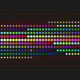 Einfaches abstraktes Vektormuster Geometrisches Muster mit Kreisen Allgemeine Anwendung Stockbilder