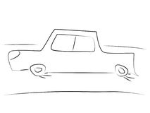 Einfaches Auto Lizenzfreies Stockbild
