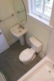 Einfaches Bad, obenliegende Ansicht Lizenzfreies Stockbild