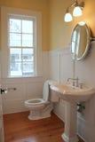 Einfaches Badezimmer Stockbild