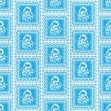 Einfaches blaues Muster Lizenzfreies Stockbild