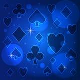 Einfaches blaues Muster Stockbild