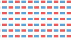 Einfaches blaues und rotes Rechteckmuster Lizenzfreies Stockfoto