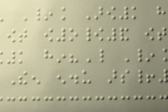 Einfaches Blindenschrift-Seiten-Makro Stockbilder