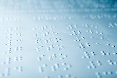 Einfaches Blindenschrift-Seiten-Makro Stockfoto