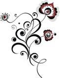 Einfaches Blumenmotiv Stockbild